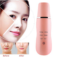 2018 Ultrasonic Face Cleaner Skin Scrubber Ultrasound Vibration Massager Skin Cleaner Pore Peel Scrubber Beauty Machine