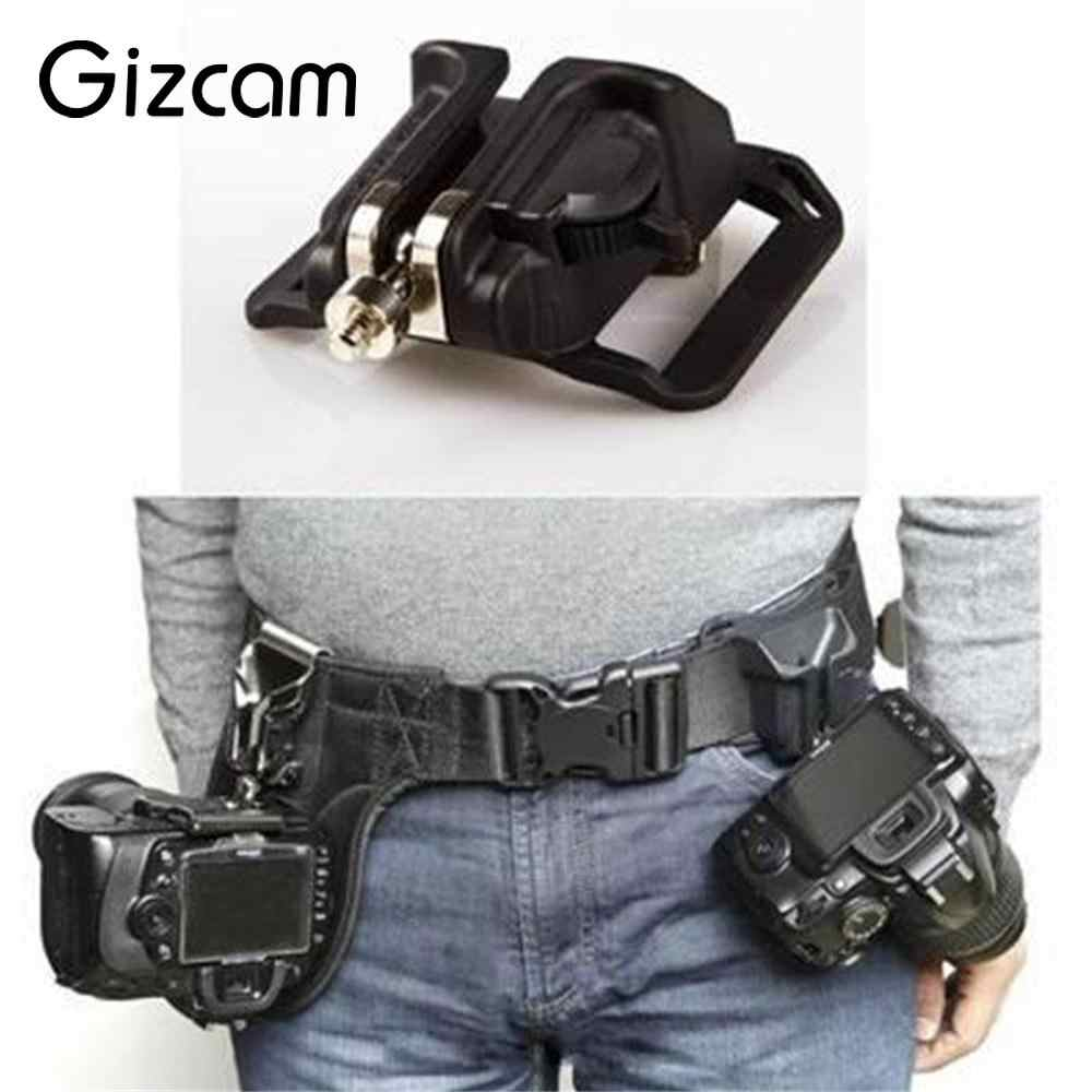 Gizcam Waist Belt for Sony Canon Nikon SLR DSLR Camera Fast Loading Holster Button Buckle Mount Clip Camera Accessories