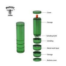 HORNET алюминиевый травяной шлифовальный станок металлический измельчитель для табака для дробилки+ один htter Dugout курительная трубка измельчители для курения