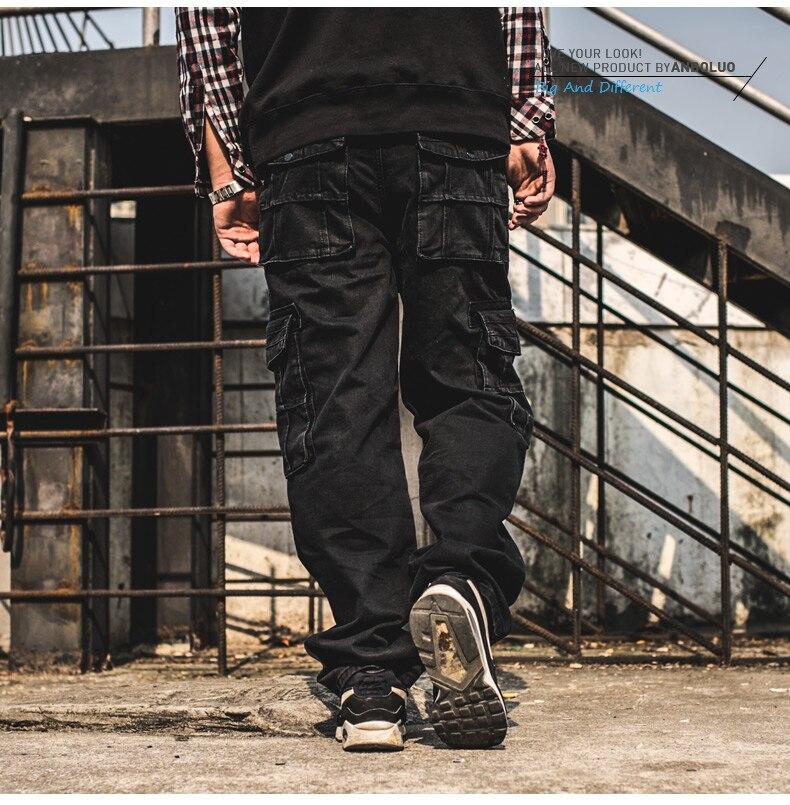 일본 스타일 브랜드 남성 힙합 헐렁한 청바지 멀티 - 남성 의류 - 사진 3
