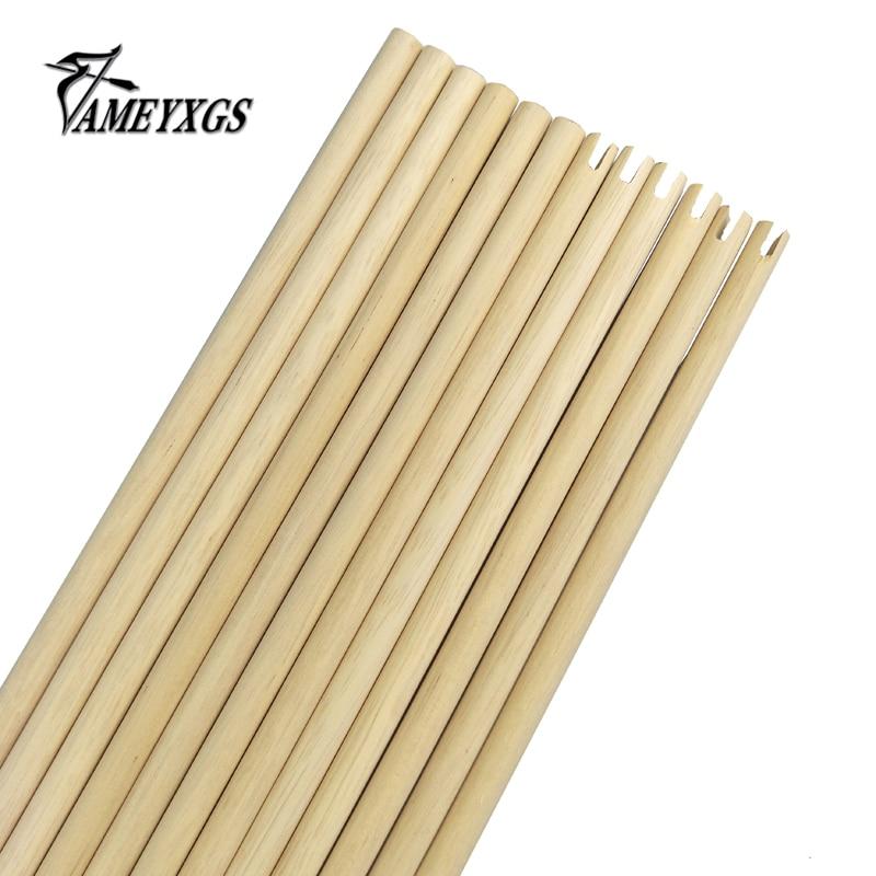 50 ピース/ロット 80 センチ木の矢シャフトアーチェリー木製のターゲット矢印シャフト 80 センチ長さ外径 8 ミリメートル  グループ上の スポーツ & エンターテイメント からの 弓矢 の中 1