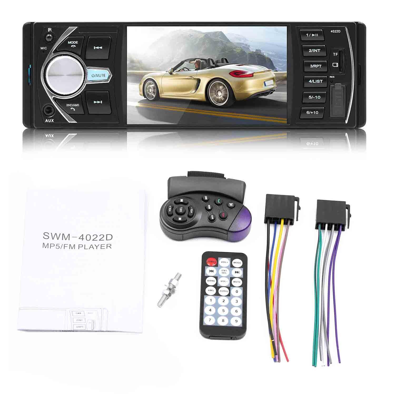 MP5 autoradio MP4 lecteur MP3 voiture USB 4.1 pouces HD TFT 12 V voiture stéréo caméra dans sortie FM/SD/dossier de jeu/AUX Bluetooth