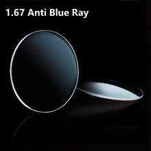 1.67 Anti-blue ray aspherical thin prescription lenses computer goggles workers watch TV playing video anti blue light