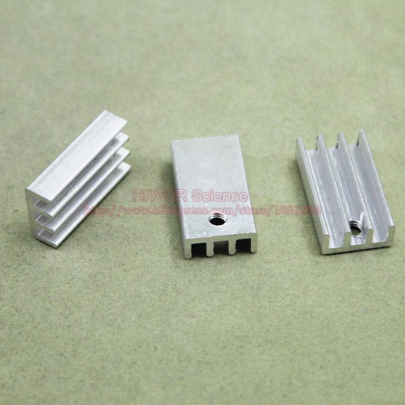 (50 шт./лот) алюминий теплоотвод радиатора 20 мм * 11 мм * 5 мм для интегральная схема ic-220 Mos транзисторы