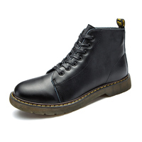 Women Boots 2018 Women's Shoes Spilt Leather Lace up Round Toe Ankle Boots For Men Martins Winter Boots