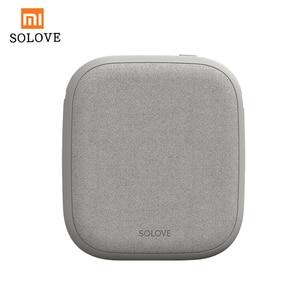Image 1 - Xiaomi SOLOVE 10000 mAh Power Bank Drahtlose Ladegerät 2.1A Schnelle Lade Ultra dünne Handy Ladegerät für iPhone Xiaomi tablet