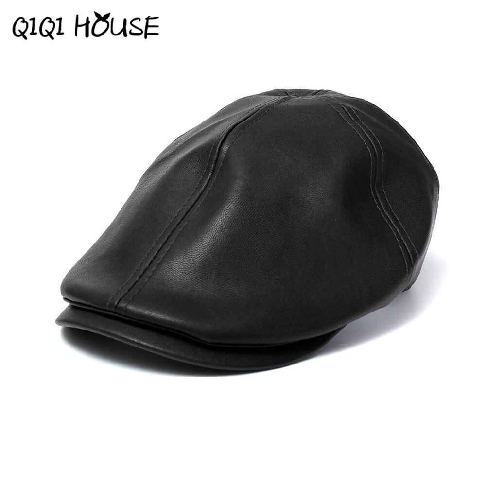 2016 Neue Sommer Männer Frauen Vintage Baskenmütze Zeitungsjunge Flache Cabbie Kausalen Fahren Hüte Kunstleder Kappe Sunbonnet #3546