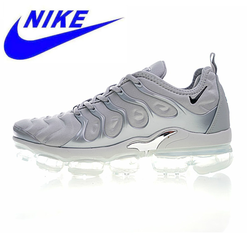 the latest 8b1f0 17b1b NIKE AIR VAPORMAX PLUS Men's Running Shoes, Light Grey, Wear-resistant  Non-slip Breathable, Outdoor Sneakers Shoes 924453 005