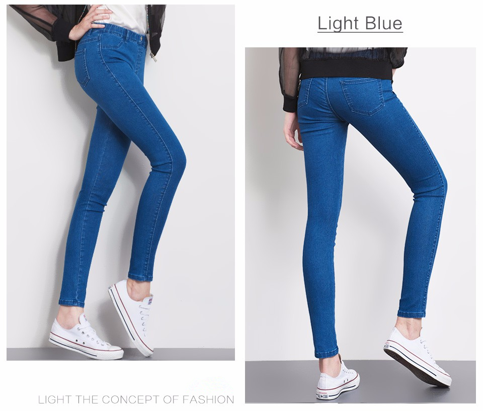 Women Jeans Plus Size Casual high waist summer Autumn Pant Slim Stretch Cotton Denim Trousers for woman Blue black 4xl 5xl 6xl 12