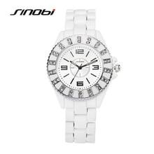 SINOBI Relógio Cerâmico Moda Casual Mulheres Menina Vestido Elegante Relógio de Pulso de Quartzo Relógios Relojes Mujer Luxo F62
