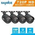 2016 hot sannce h.265 4 unids 720 p tvi cámara cctv de la bala de vigilancia de seguridad de vídeo ir de visión nocturna de interior al aire libre cámaras 1.0mp