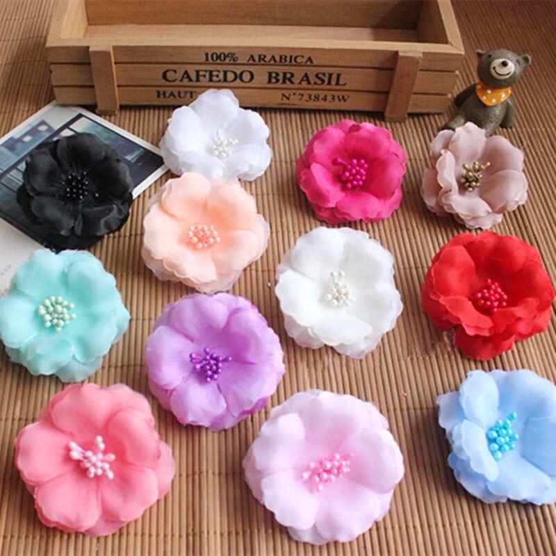 60pcs6cm Head Fake Cherry Blossom Artificial Silk Flowers