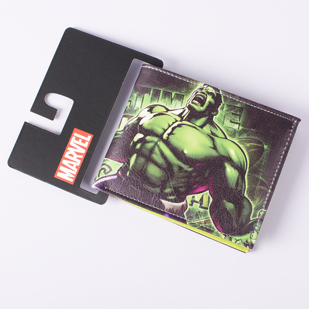 Comics DC Marvel Wallet The Giant Green Men Hulk Cartoon PVC Bag Leather Gift Purse Unisex Standard billeteras Wallets archie giant comics 75th anniversary book