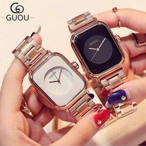 Image 4 - GUOU レロジオ Feminino 2019 ラグジュアリーウォッチ女性の腕時計ファッションローズゴールドレディース腕時計時計女性 saat リロイ mujer