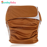 1 pc New arrival adult baby cloth diapers with hook & loop large size washable adult diaper for old man and disabled