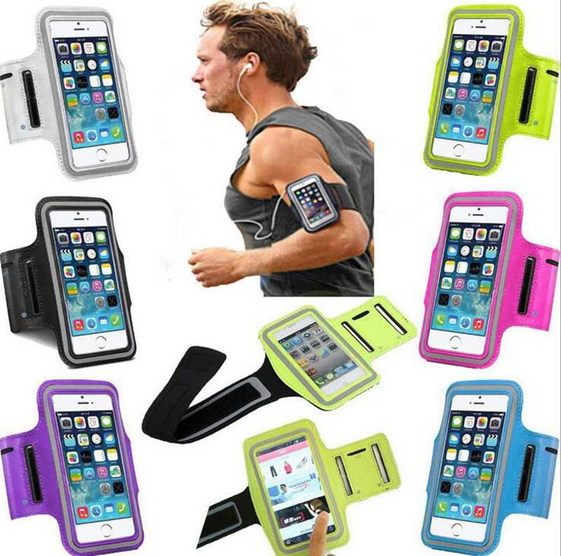 5.5'' Waterproof Universal Brassard Running Gym Sport Armband Case Mobile Phone Arm Band Bag Holder for iPhone Smartphone Hand