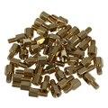 50 шт. латунные винтовые стойки pcb шестиугольные прокладки M3 Male x M3 Female 5 мм