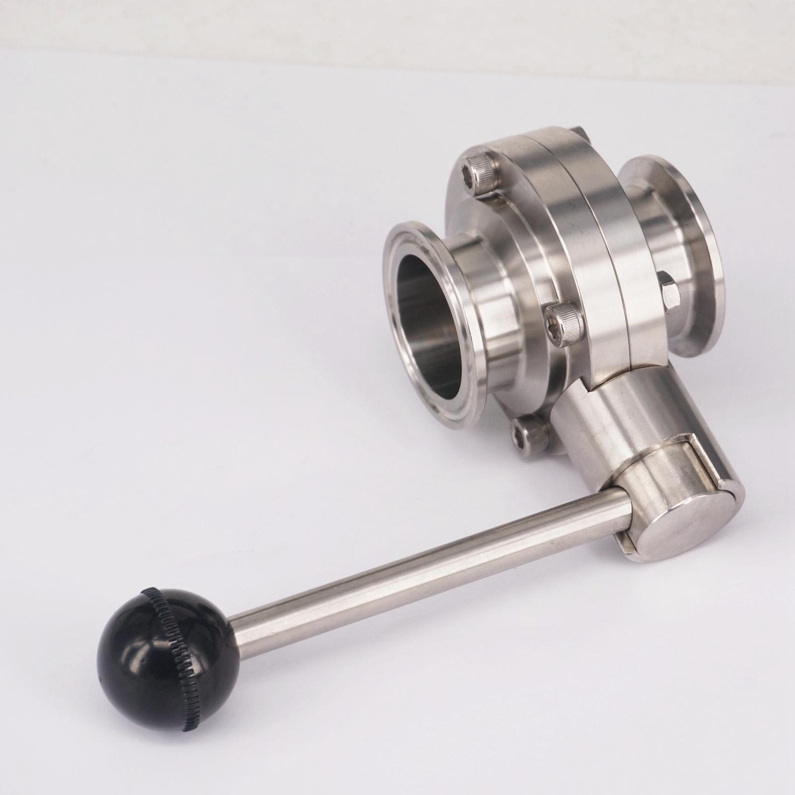 1-1/2 38mm SS304 Stainless Steel Sanitary 1.5 Tri Clamp Butterfly Valve Homebrew Beer Dairy Product sanitary adjustable 11 2 tri clamp beer fermenter pressure vacuum relief valve ss304 stainless steel 15psi