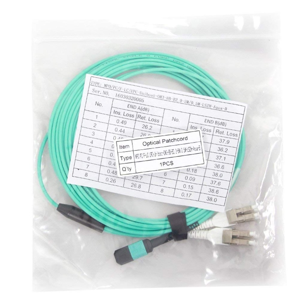 10Gtek 5-meter (16,5 fot) MPO till 8xLC Fiber Optical Patch Cord, - Kommunikationsutrustning - Foto 5