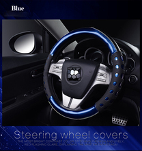 New Elegant Car Styling steering wheel car-covers 38cm Colorful PU leather car cover Auto Inner Accessories