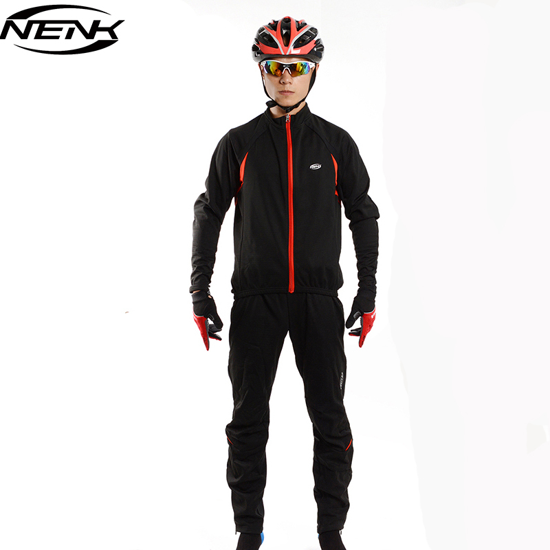 SOBIKE NENK Cycling Suits Bicycle Outdoor Sportswear Bike Racing Men's Cycle Long Jersey Wind Coat Jacket Winter Tights Pants