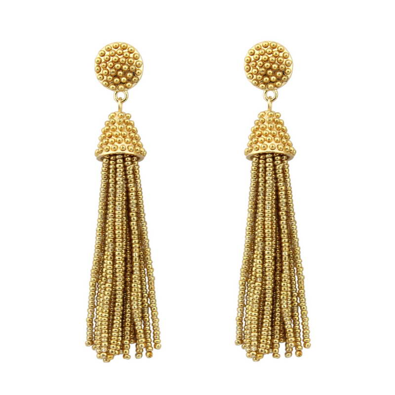 Opción de 14 colores Bohemian Long Seed Beads Tassel Earrings para mujer Moda 2018 Designer Boho Dangle Earrings Jewelry Wholesale