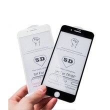 25 PCS 전체 커버 보호 프리미엄 화면 보호기 5D 6D 라운드 곡선 가장자리 강화 유리 아이폰 11 프로 XS XR 최대