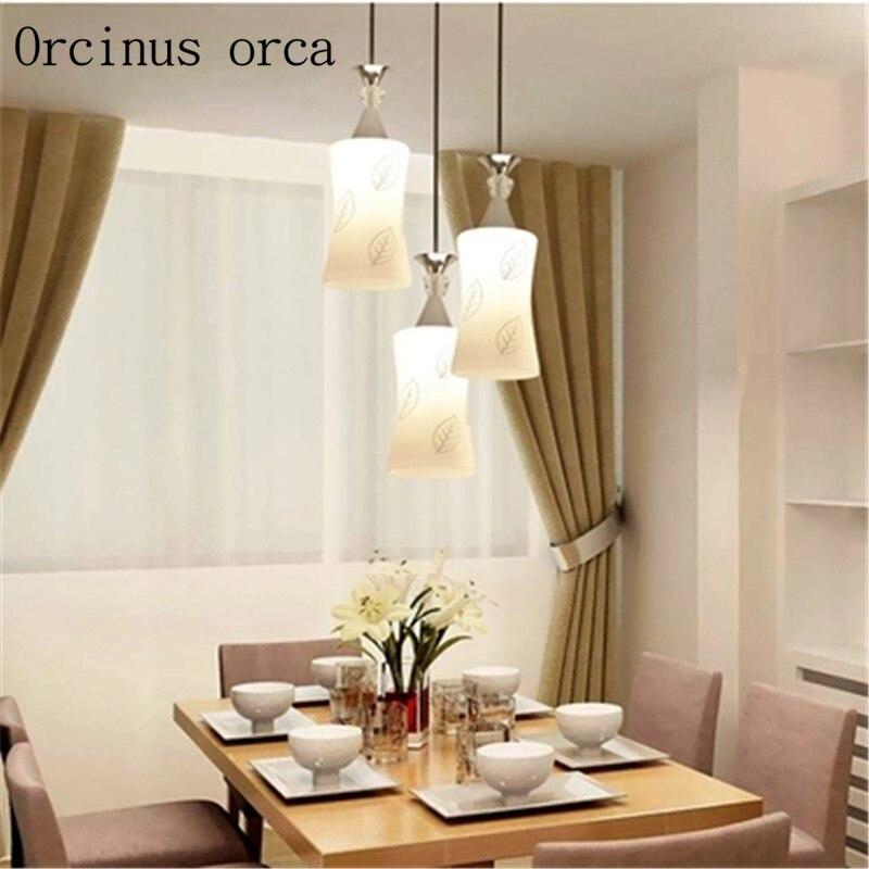 Restaurant Kronleuchter modernen minimalistischen drei kreative - Innenbeleuchtung - Foto 2