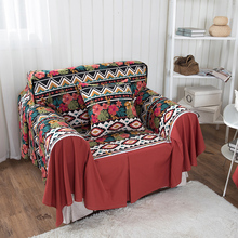 1 Piece Luxury Decorative Polyester Sofa Cover Modern Office Sofa Home Decor Geometry Flower