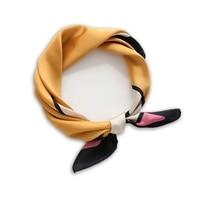 2017 Autumn High Soft Silk Square Scarf Scarves Bandanas Head Wrap Shawl Satin Stewardess Women Small