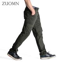 Men's Cargo Pants Multi Pockets Trousers Big Size Brand Loose Men Army Military Tactical camo Uniform Pants Top Cotton G8