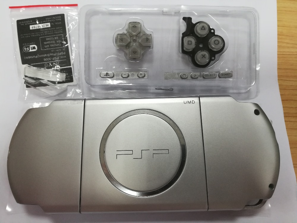 Silver Color Full Set Housing Shell Replacement for Sony PSP3000 PSP 3000 Cover Case Game Console Repair Parts Cases     - title=