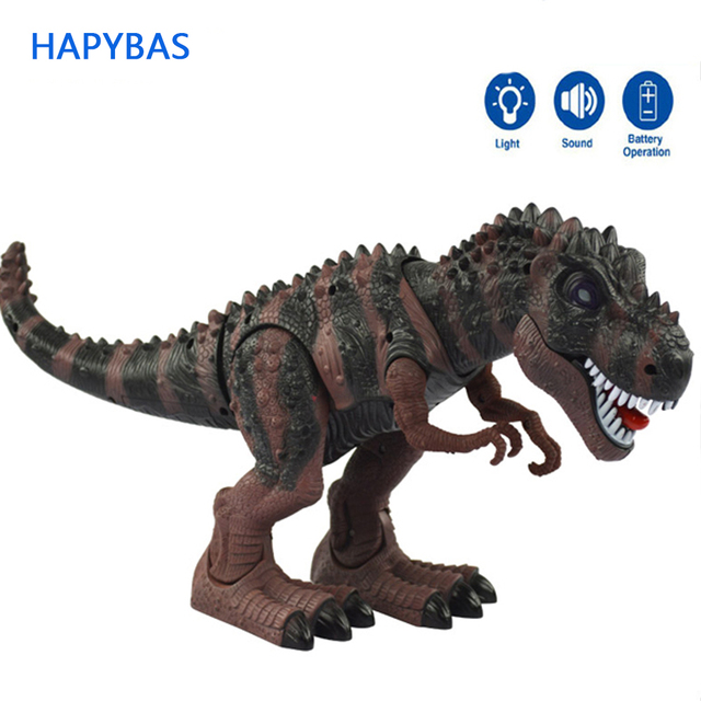 Model toy big  tyrannosaurs rex walking electric animal battery operated flash eye Assemble for child kids