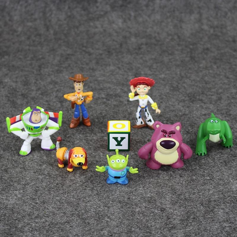8 unids set historia lindo juguete 3 Buzz Lightyear Woody Jessie mini PVC  figura de acción modelo Juguetes colección Muñecas niños regalos 3 7 cm en  Acción ... 3fe3d1ac5e1