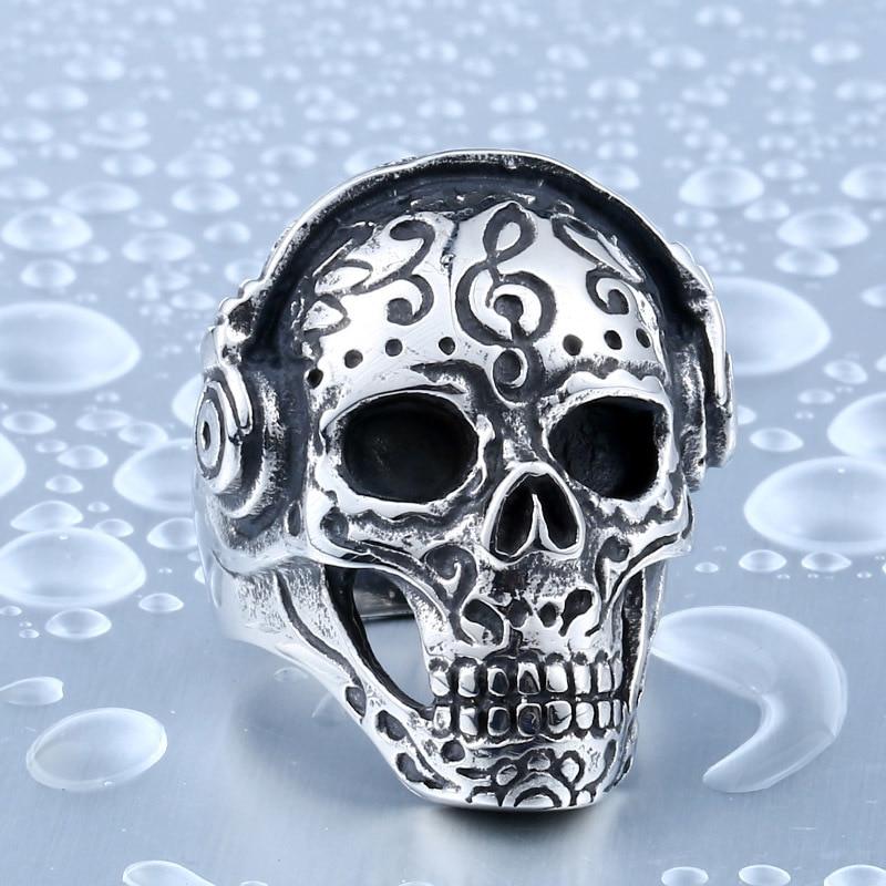beier skull ring for stainless steel unique