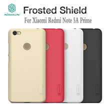 For Redmi Y1 5.5inch Case Nillkin Frosted Shield Hard Back Cover for Redmi Note 5A Prime Phone Shell Capas With Free Film HD2