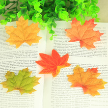 5pcs/lot Colorful Maple Leaves Silk Cloth Leaf Vivid  Autumn Fall Foliage Photography Background Props ins Backdrops Accessories