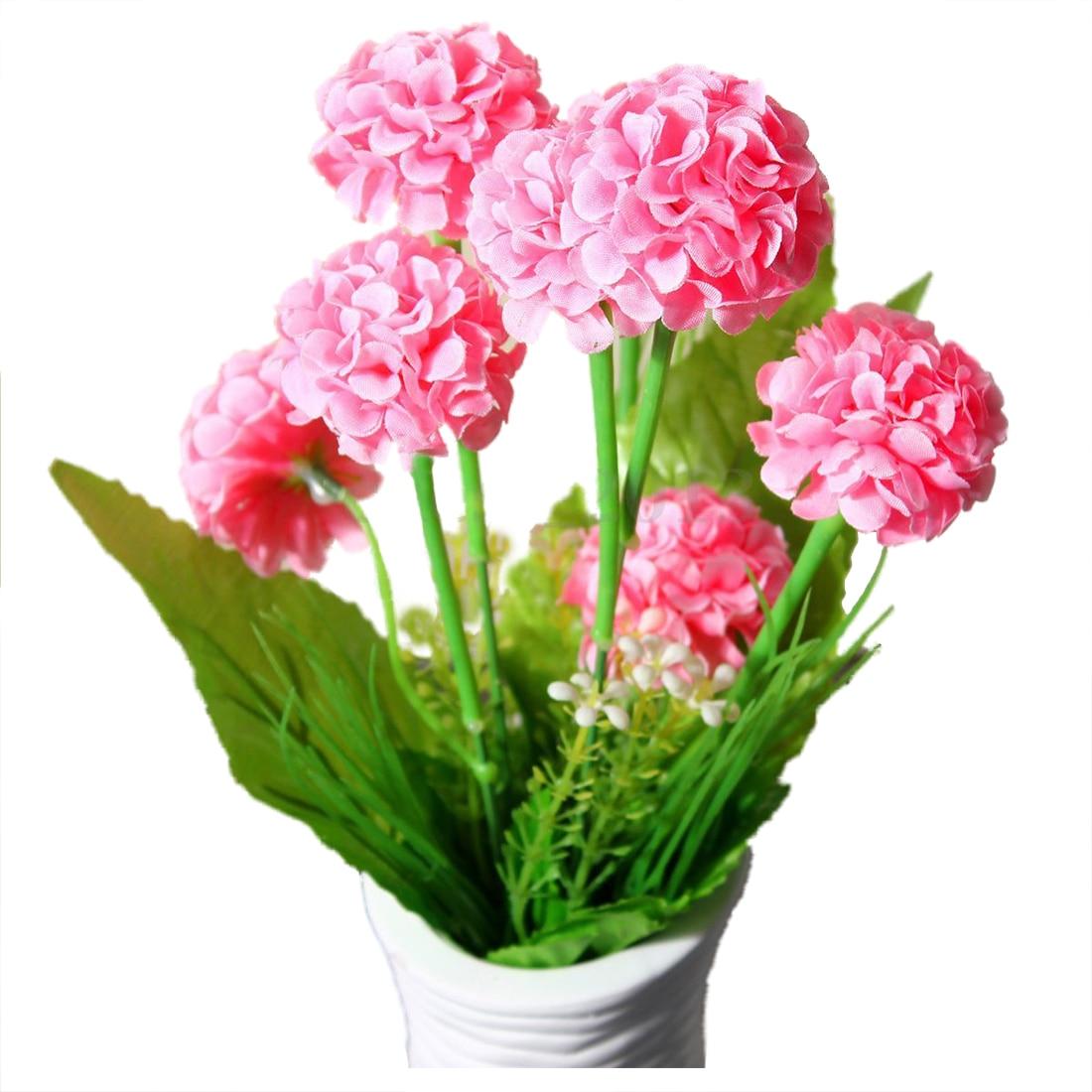 FJS-9 Heads 1 Bouquet Artificial Chrysanthemum Silk Flowers Floral Home Garden Decor