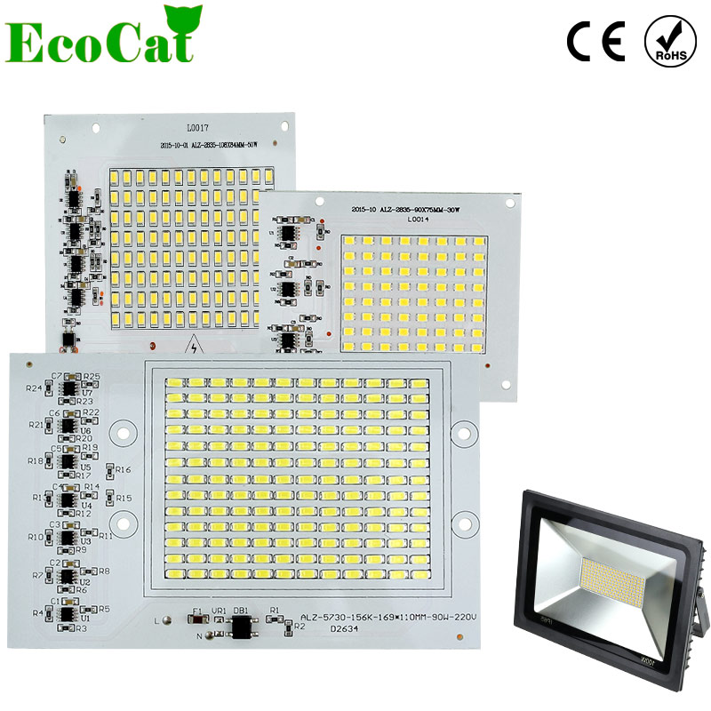 ECO CAT LED Lamps Chip Smart IC 220V 10W 20W 30W 50W 90W DIY For Outdoor FloodLight Outdoor Garden Cold White Warm White цена 2017