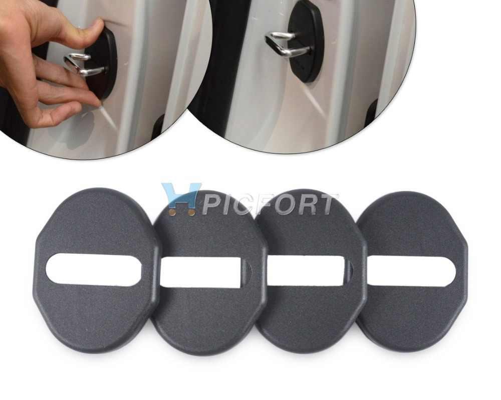 CITALL 4pcs Car Door Striker Cover Lock Protector Case For Mitsubishi ASX Pajero Outlander Mazda 6 MX-5 2009 2010 2011 2012 2013