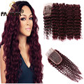 8A Burgundy Peruvian Hair 99J Deep Curly Virgin Hair Wine Red Peruvian Curly Hair 4 Bundles Curly Weave Human Hair More Wavey