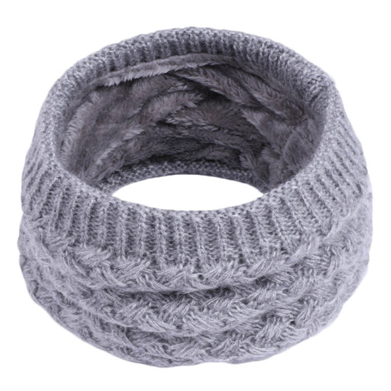 New Fashion Winter Scarf For Women Men Children Baby Scarf Thickened Plush Collar Scarves Boys Girls Neck Scarf Unisex Apparel Accessories
