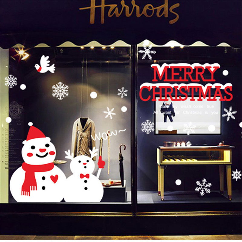 Christmas Decorations For Home Windows: Aliexpress.com : Buy Creative Snowman Brothers Christmas