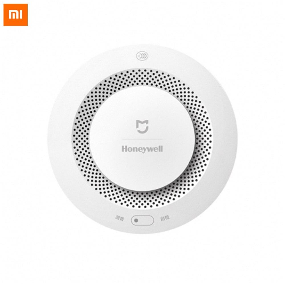 Original Xiaomi Mijia Honeywell Detector de alarma de incendios alarma Audible y Visual trabajo con puerta Detector de humo casa inteligente