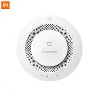 Original Xiaomi Mijia Honeywell Fire Alarm Detector Audible And Visual Alarm Work With Gateway Smoke Detector Smart Home Remote