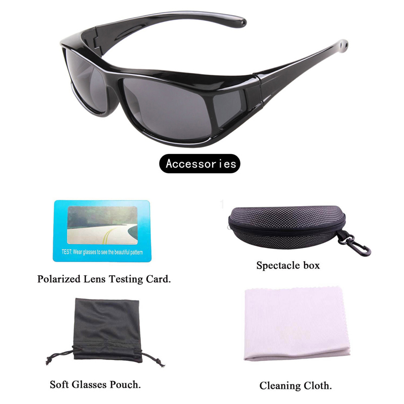 29c8f725c76 Free shipping Polarized sunglasses UV400 fit over glasses onnebril For Men  and Women Glasses cover sun glasses fishing glasses -in Fishing Eyewear  from ...