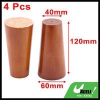 Office Wood Furniture Cabinet Sofa Legs Feet Replacement Brown 4 7 Inch Height 4 Pcs