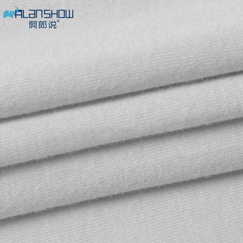 ملابس داخلية للرجال من القطن من Alanshow قميص رجالي شفاف قميص للصالة الرياضية قميص مصارعة اللياقة البدنية