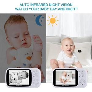 Image 5 - וידאו בייבי מוניטור עם מצלמה 3.5 אינץ תינוק מצלמה עם ראיית לילה רב מצלמה