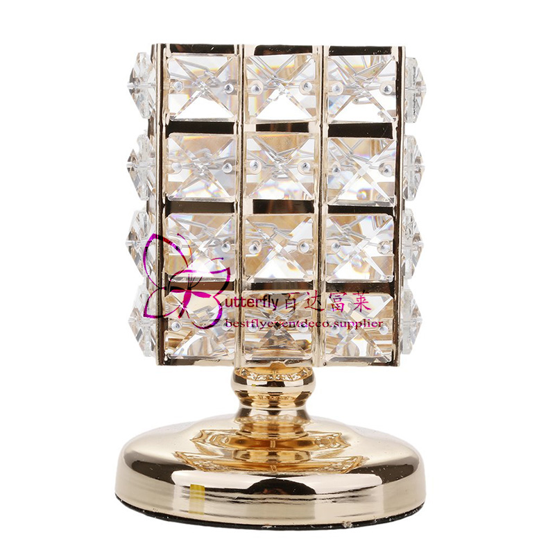 3Pcs Crystal Candle Holders Wedding Centerpieces -5